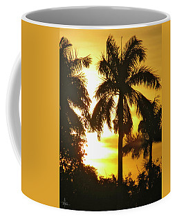 Tropical Sunset Palm Coffee Mug
