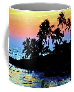 Tropical  Sunset Silouhette Coffee Mug