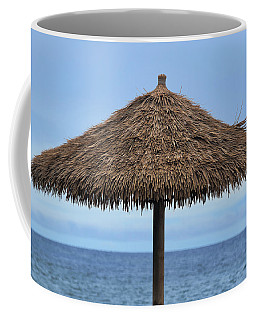 Coffee Mug featuring the photograph Tropical Umbrella by Pamela Walton