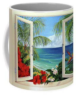 Tropical Window Coffee Mug by Katia Aho