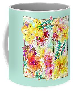 Coffee Mug featuring the digital art Tropicana Abstract By Kaye Menner by Kaye Menner