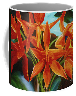 Coffee Mug featuring the painting Tropicana by Donna Hall