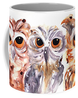 Coffee Mug featuring the painting Trouble by Dawn Derman