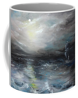 Coffee Mug featuring the painting Troubled Waters by Isabella F Abbie Shores FRSA