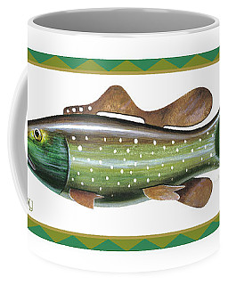 Trout Ice Fishing Decoy Coffee Mug