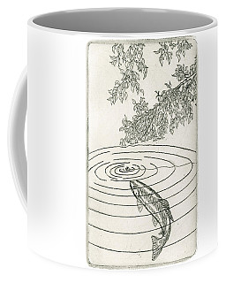 Trout Rising To Dry Fly Coffee Mug