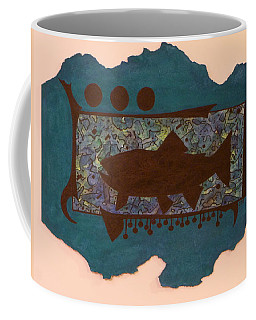 Trout Silhouette Coffee Mug