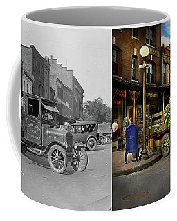 Truck - Home Dressed Poultry 1926 - Side By Side Coffee Mug by Mike Savad