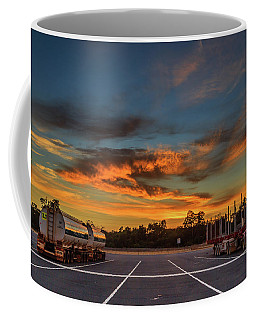 Trucking Sunrise Coffee Mug
