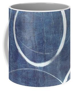 Coffee Mug featuring the painting True Blue Ensos by Julie Niemela