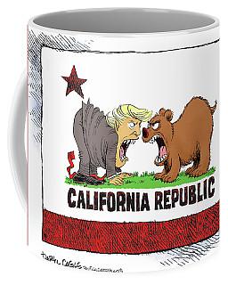 Trump And California Face Off Coffee Mug