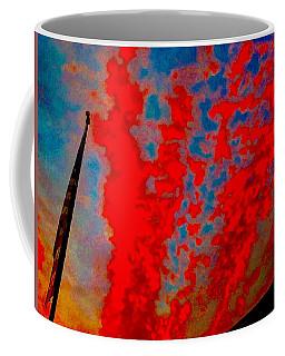 Trump Red Sunset Meets American Flag Coffee Mug