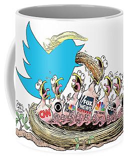 Trump Twitter And Tv News Coffee Mug