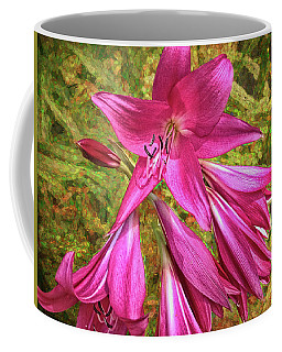 Coffee Mug featuring the photograph Trumpet Flowers by Lewis Mann