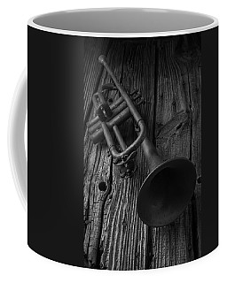Trumpet In Black And White Coffee Mug