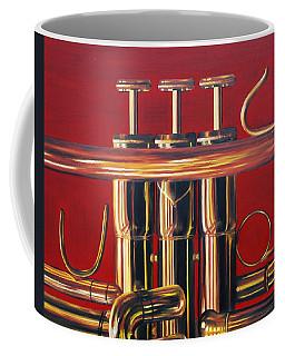 Trumpet In Red Coffee Mug