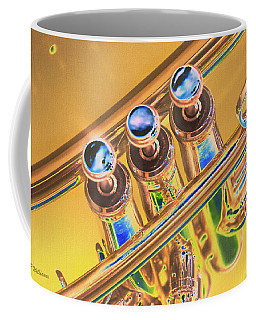 Trumpet Keys Coffee Mug