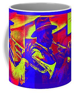 Trumpet Player Pop-art Coffee Mug