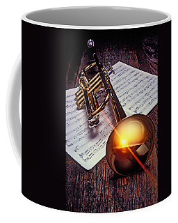 Trumpet With Sunset Coffee Mug