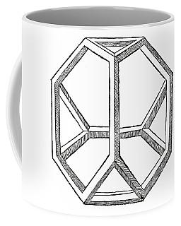 Truncated Tetrahedron With Open Faces  Tetraedron Abscisum Vacuum Coffee Mug