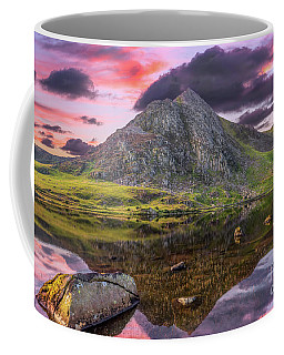 Coffee Mug featuring the photograph Tryfan Mountain Sunset by Adrian Evans