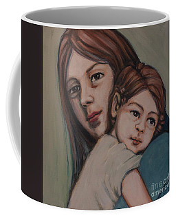 Coffee Mug featuring the painting Trying To Remember by Olimpia - Hinamatsuri Barbu