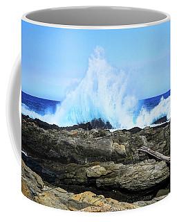 Tsitsikamma National Park Mpa Tidal Wave Splash Coffee Mug by Jeff at JSJ Photography