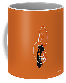 Coffee Mug featuring the digital art Tuba In Orange by Jazz DaBri