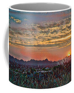 Coffee Mug featuring the photograph Tucson Sunset Remix by Dan McManus