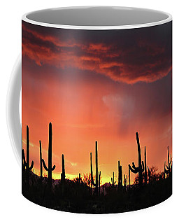 Tucson Sunset With Rain Coffee Mug