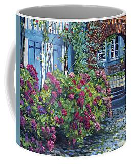 Tudor Hydrangea Garden Coffee Mug