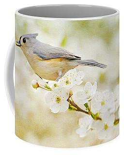 Tufted Titmouse With Seed Coffee Mug