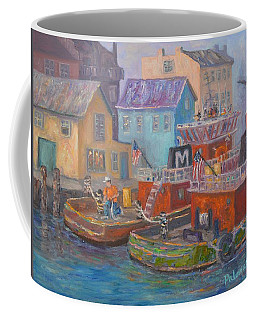 Tug Boats Portsmouth Maritime Painting Coffee Mug