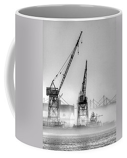 Tug With Cranes Coffee Mug by Joe Schofield