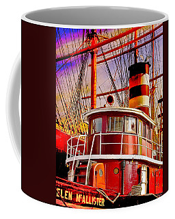 Coffee Mug featuring the photograph Tugboat Helen Mcallister by Chris Lord