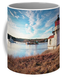 Tugboat, Squirrel Point Lighthouse Coffee Mug
