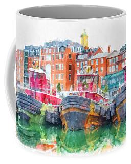 Tugboats Portsmouth New Hampshire Watercolor Coffee Mug