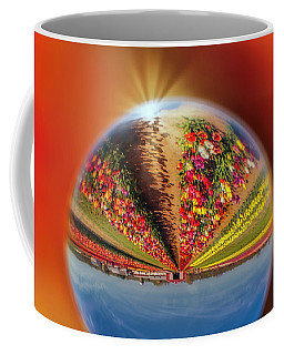 Coffee Mug featuring the photograph Tulip Farm Reflections And Refractions by Susan Candelario