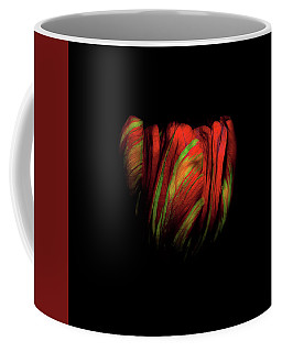 Tulip Flower On Black Background Abstract Coffee Mug