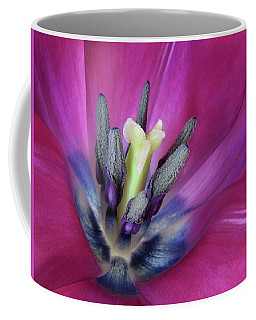 Coffee Mug featuring the photograph Tulip Intimacy by David and Carol Kelly