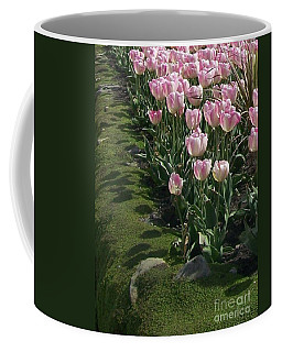 Coffee Mug featuring the photograph Tulip Parade by Jolanta Anna Karolska