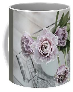 Coffee Mug featuring the photograph Tulip Ruffles by Kim Hojnacki