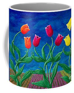 Tulip Tango Coffee Mug by Rebecca Parker