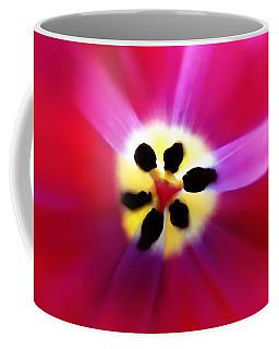 Tulip Vivid Floral Abstract Coffee Mug by Menega Sabidussi