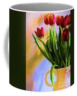 Tulips - Digital Art Coffee Mug by Kathleen K Parker