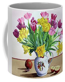 Tulips In Jug With Apples Coffee Mug