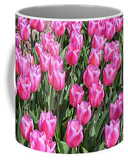 Coffee Mug featuring the photograph Tulips In Pink Color by Patricia Hofmeester
