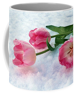 Tulips In Snow Coffee Mug