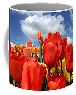Tulips In The Sky Coffee Mug