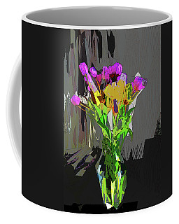 Tulips In Vase Cubed Coffee Mug by David Pantuso